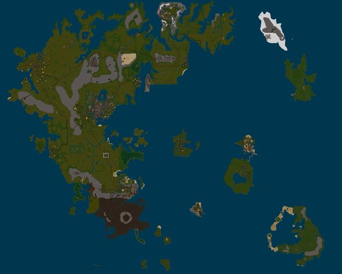 Karte von Terra Mystica